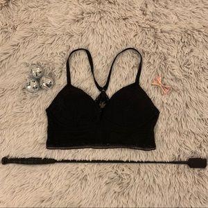 Victoria's Secret Black Crochet Lace Bralette